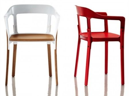Sedia Steelwood Chair di Ronan &#038; Erwan Bouroullec per Magis