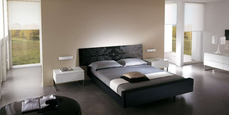 Camera da letto nera foto design mag for Design con 2 camere da letto