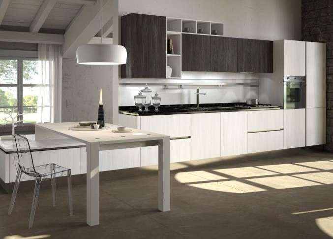 Awesome Cucina Bianca E Marrone Pictures - Skilifts.us - skilifts.us
