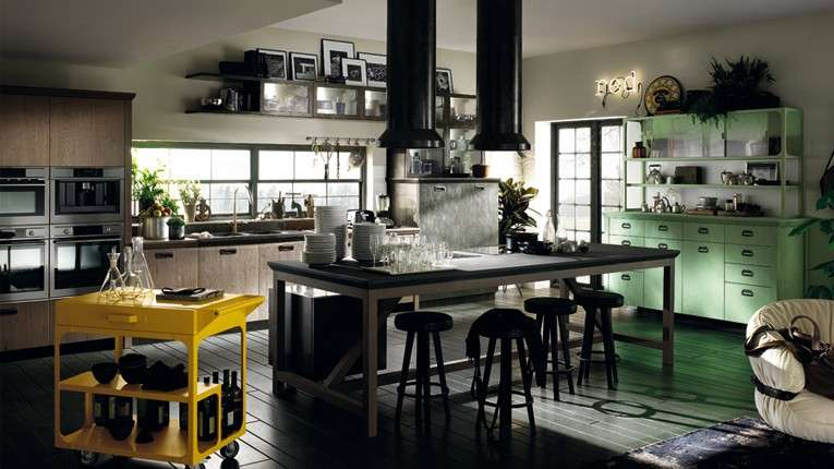 Cucina in stile industriale foto design mag for Look industriale per case