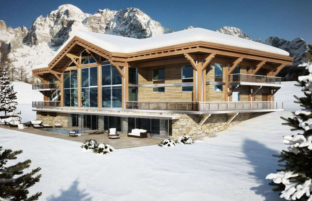 Awesome chalet di montagna con piscina with case di montagna for Piani casa montagna colorado