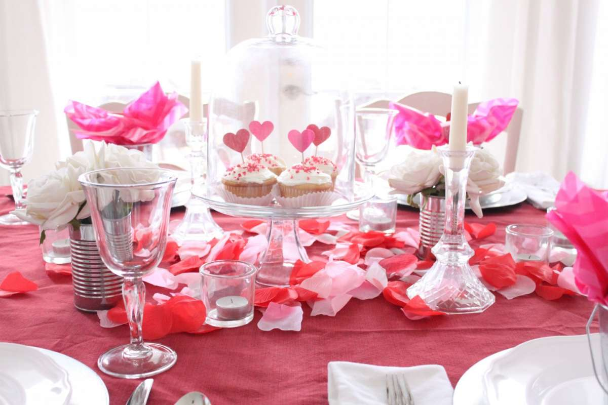 37 romantic valentine table decorations table decorating - Decorazioni san valentino ...