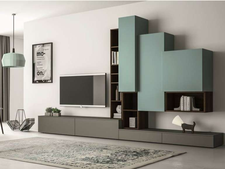 pareti attrezzate soggiorno 2016 foto design mag. Black Bedroom Furniture Sets. Home Design Ideas