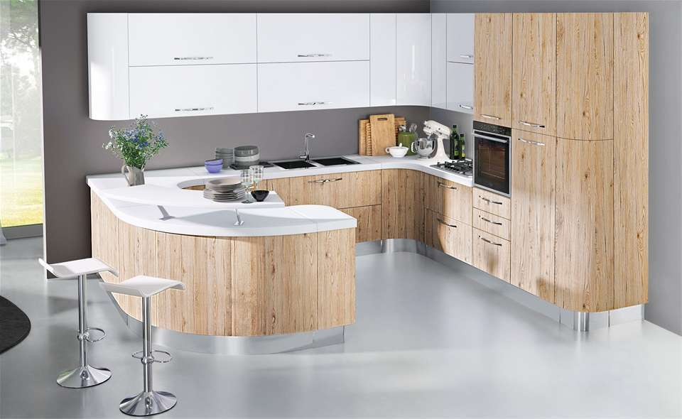Beautiful Cucina Rovere Sbiancato E Bianco Pictures - Ideas ...
