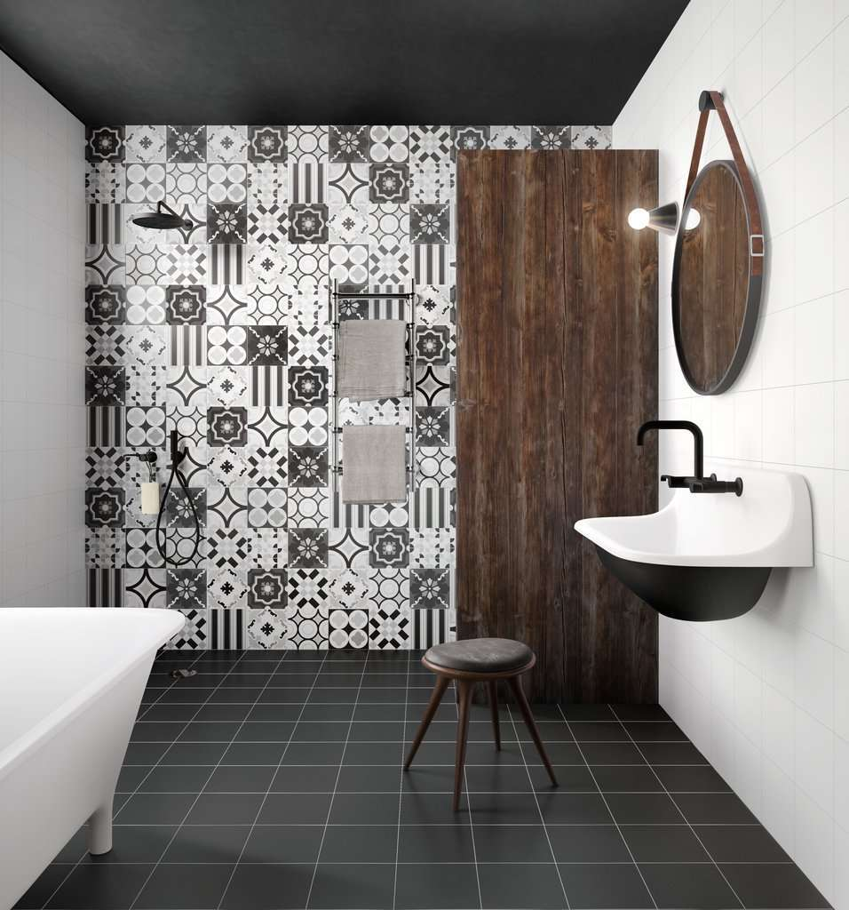 Piastrelle cementine foto design mag for Piastrelle decorate bagno