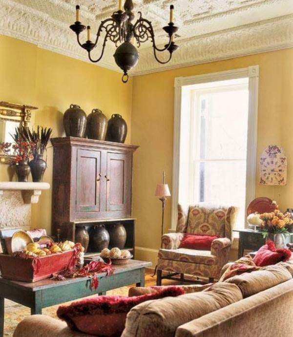 Yellow Paint For Living Room Walls: Arredo Cottage (Foto)