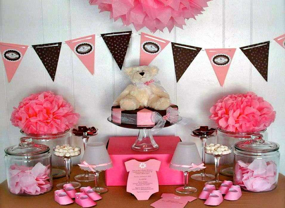 Addobbi rosa per baby shower