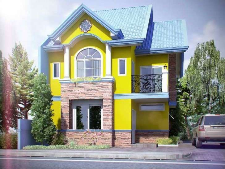 Colore muri esterni di casa foto design mag - Exterior building painting decor ...