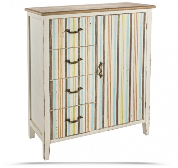 dipingere a righe : Credenza a righe
