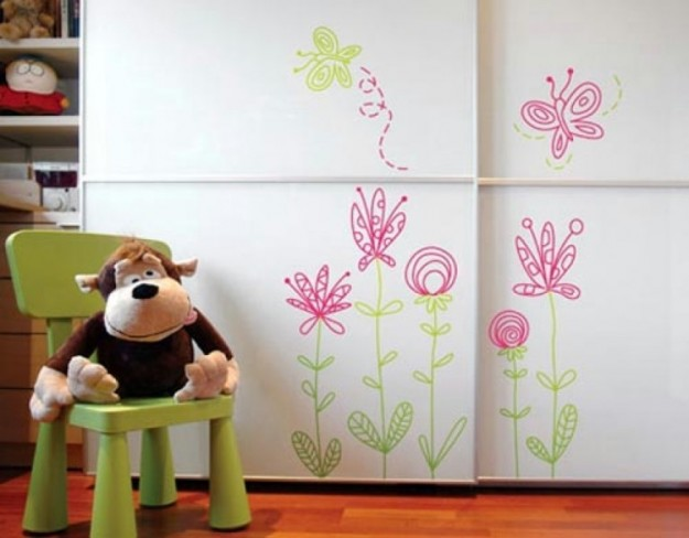 Decorazione stickers fiori for Decorazione wall sticker