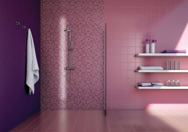 Piastrelle mosaico in bagno foto design mag for Piastrelle decorate bagno