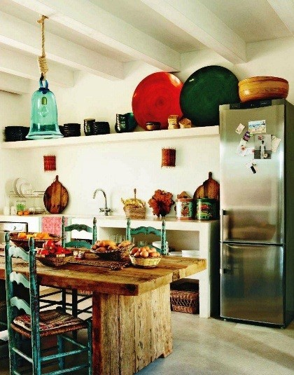 Cucina country multicolor