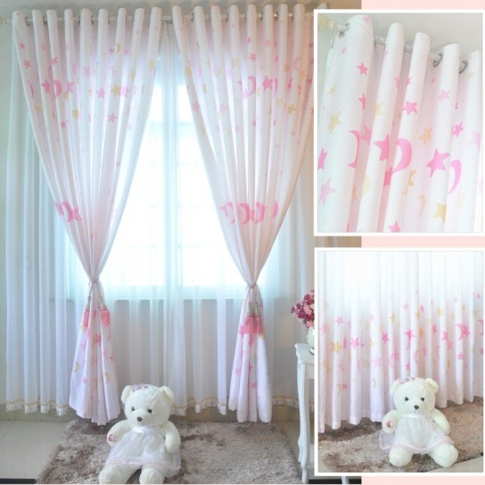 Tende per bimba con decorazioni for Decorazioni tende