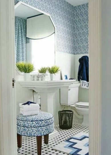 Arredi per bed and breakfast foto 2 42 design mag - Bagno blu e bianco ...