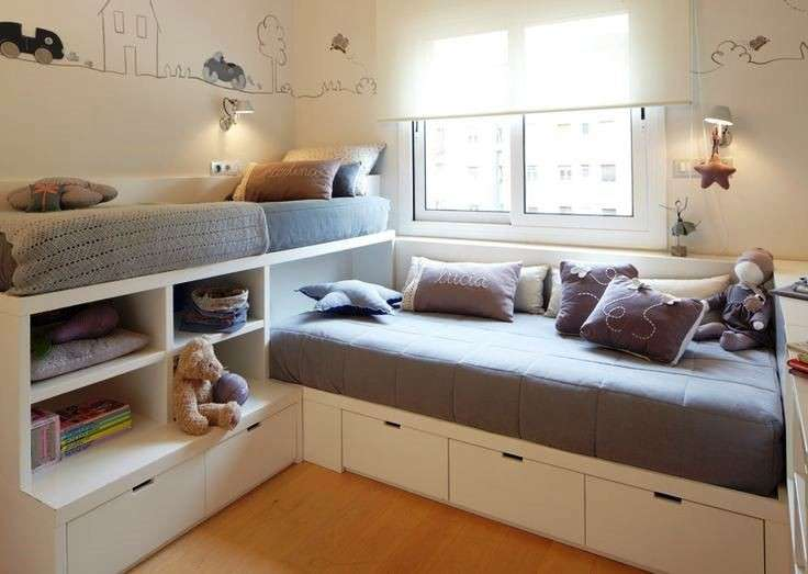 Come arredare una cameretta piccola senza errori design mag - Space saving ideas for small kids bedrooms plan ...