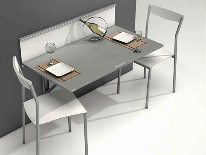 Tavoli a scomparsa foto 31 40 design mag for Table de cuisine murale pliable