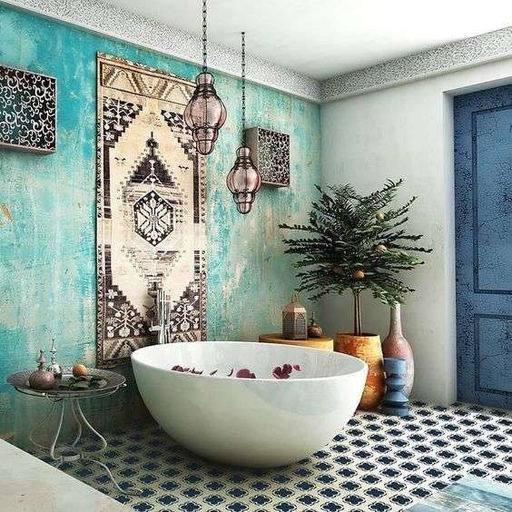 vintage boho bathroom design html with Arredare Il Bagno In Stile Etnico 11355 on Arredare Il Bagno In Stile Etnico 11355 further Jak Dobrac Kolor Fugi together with Country Bath By Pam Britton 14x11 In p 2935 also 3626a6ace35a21c1 also Cozy Minimalist Living Room Reveal.