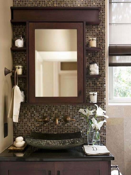 Piastrelle mosaico in bagno foto 20 40 design mag for Piastrelle decorate bagno