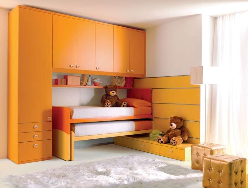 camerette bambini salvaspazio foto 4 40 design mag. Black Bedroom Furniture Sets. Home Design Ideas