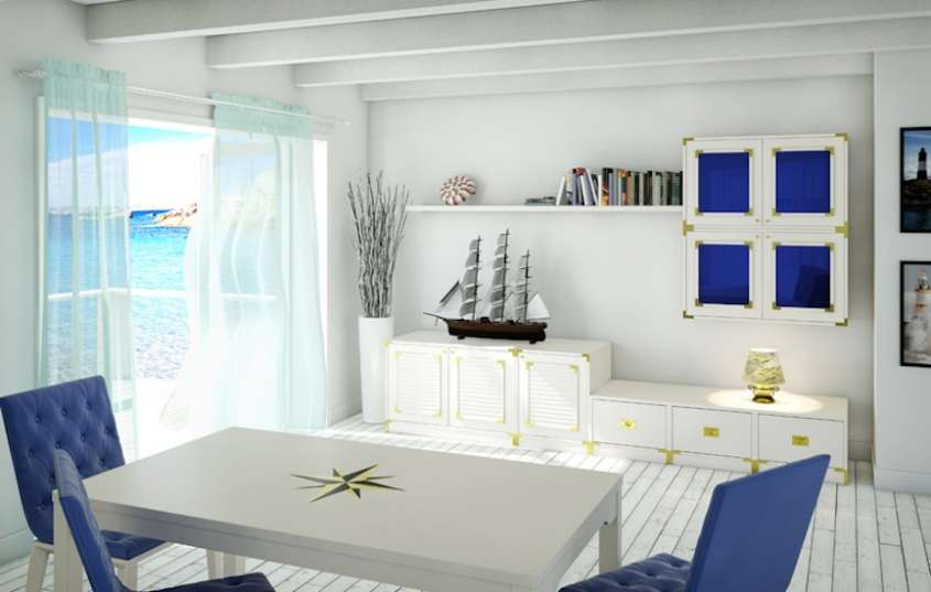 arredare casa in stile marinaro foto design mag. Black Bedroom Furniture Sets. Home Design Ideas