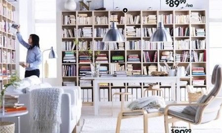 Ikea si prepara all era digitale e trasforma la libreria - Ante billy ikea ...