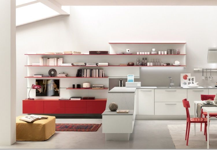 Mensole per cucina moderna beautiful cucine moderne with mensole per cucina moderna awesome - Mensole cucina country ...