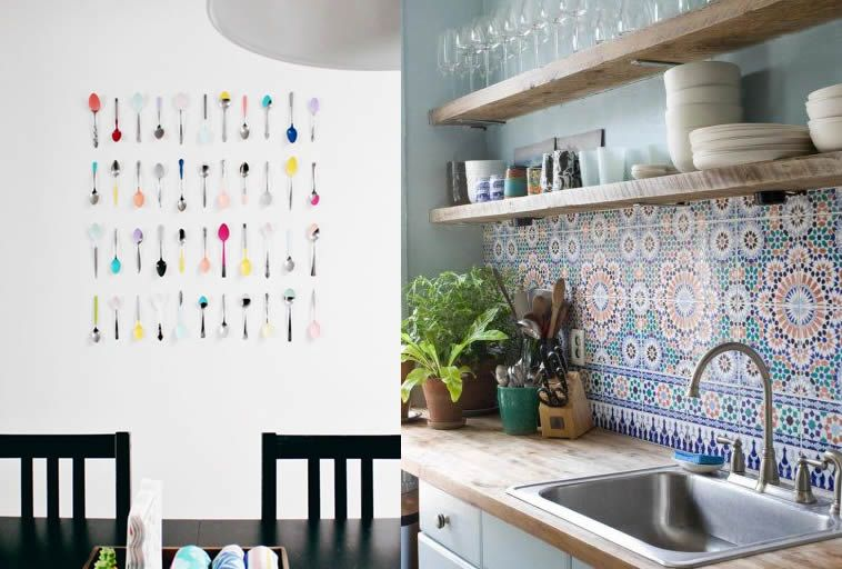 Pareti cucina 9 idee per renderle cool design mag for Idee per decorare pareti