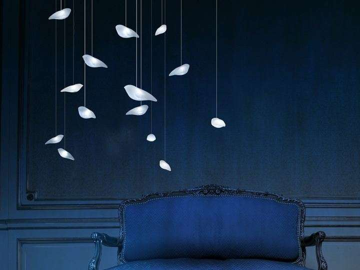 Lampada a sospensione a LED Smoon Birdie Light di Beau & Bien