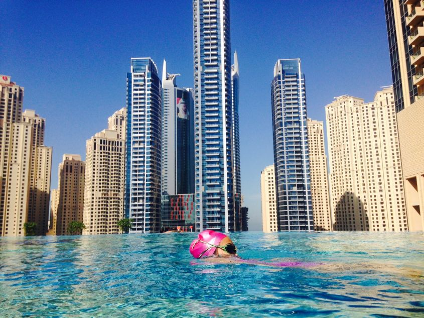 Piscina del The Address a Dubai Marina