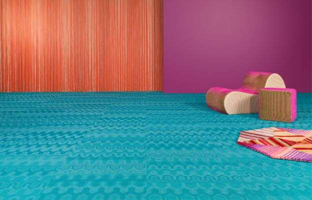 Bolon by Missoni, pavimento turchese
