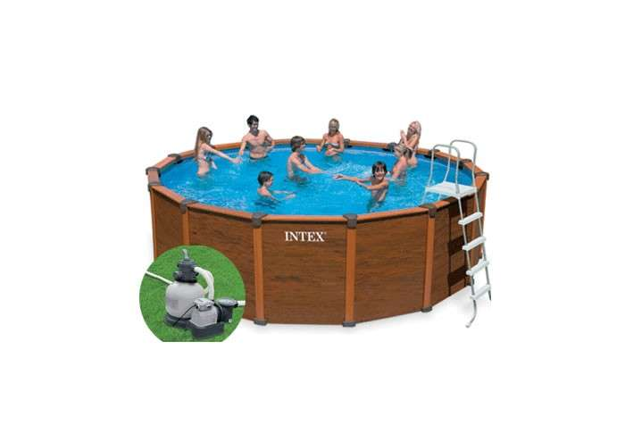 Intex piscina in legno