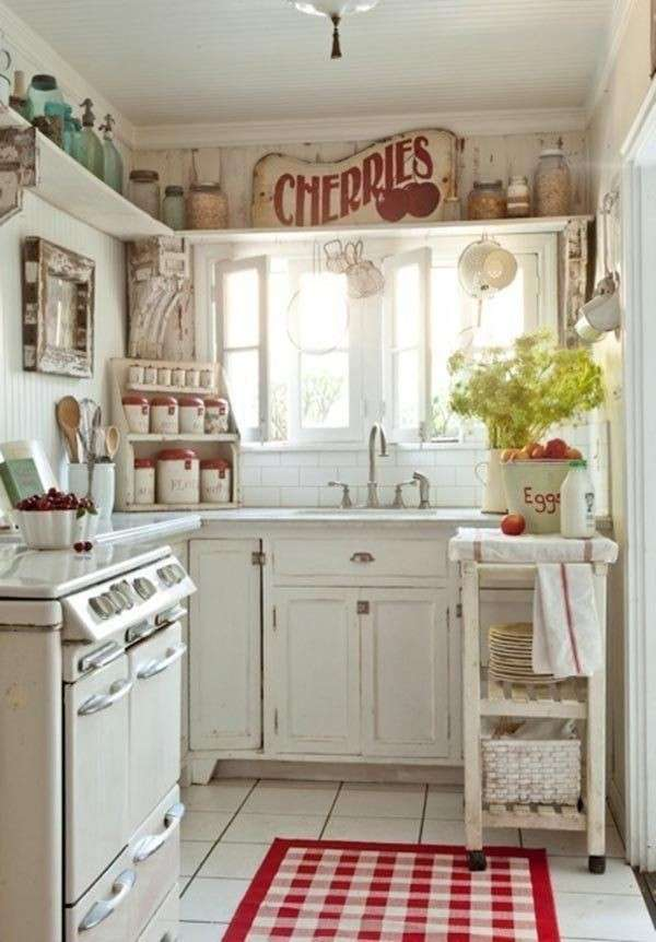 Piccola cucina in stile country