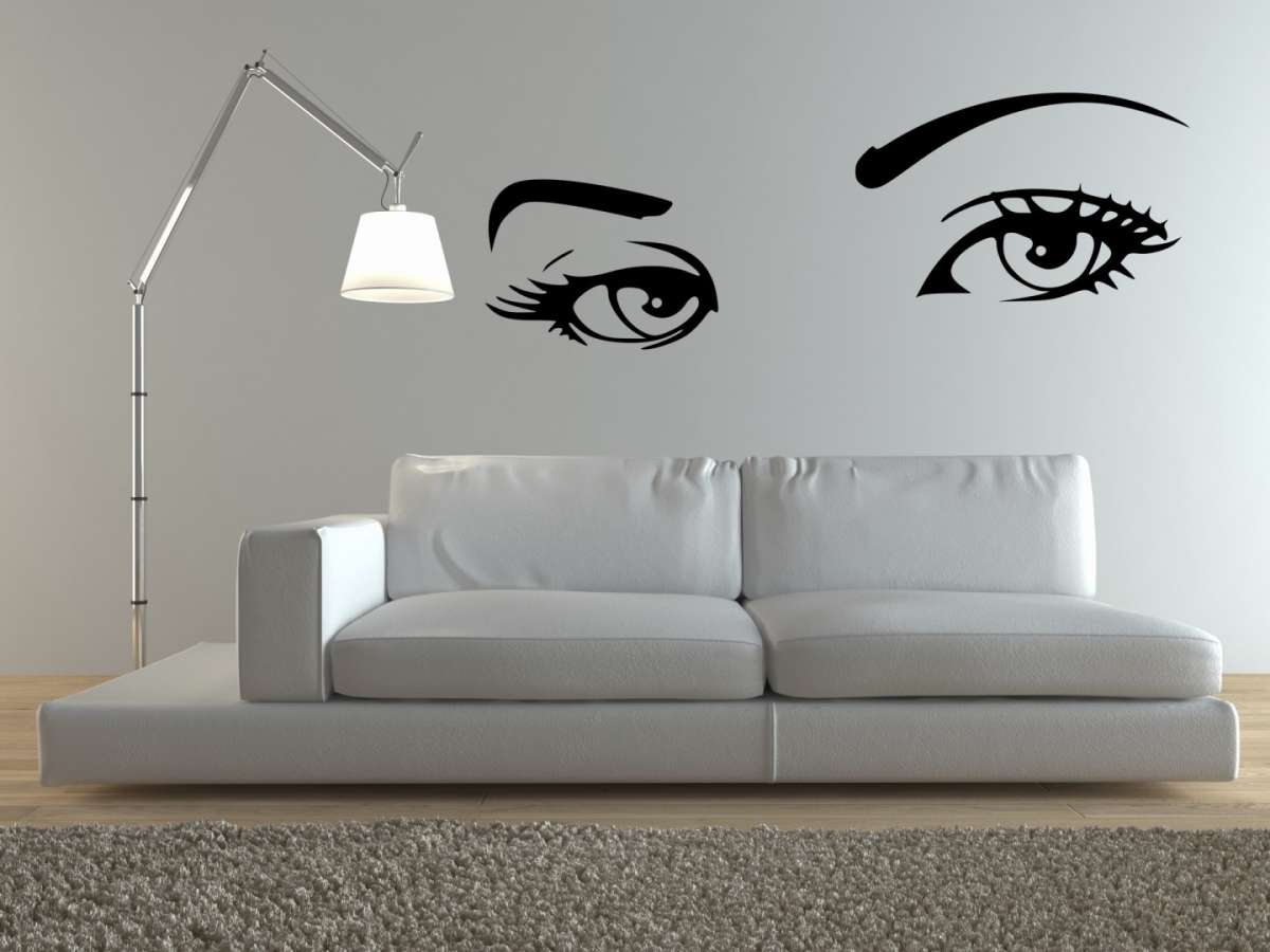 Decorare una parete bianca con i wall stickers