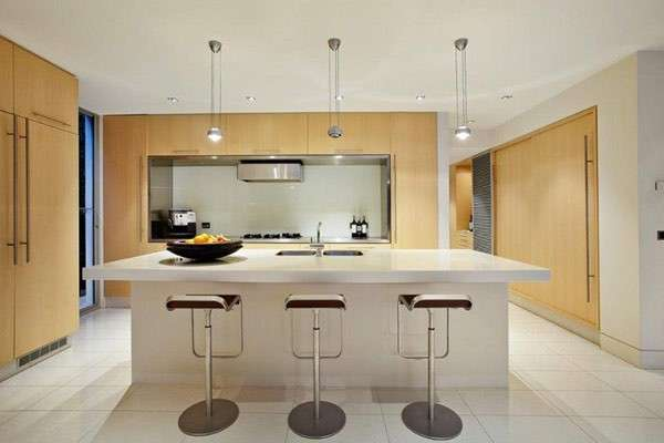 Kitchen design, bianco e beige