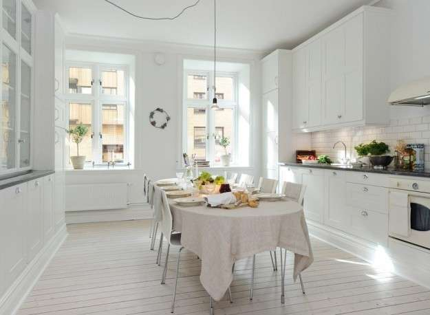 Cucina in total white