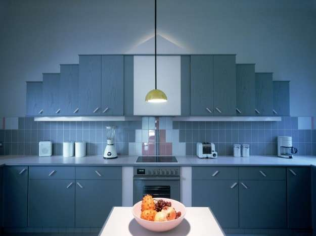 Cucina in total blue