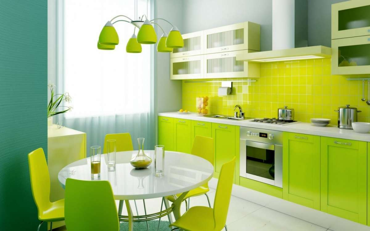 Best Parete Cucina Verde Acido Contemporary - Ideas & Design 2017 ...