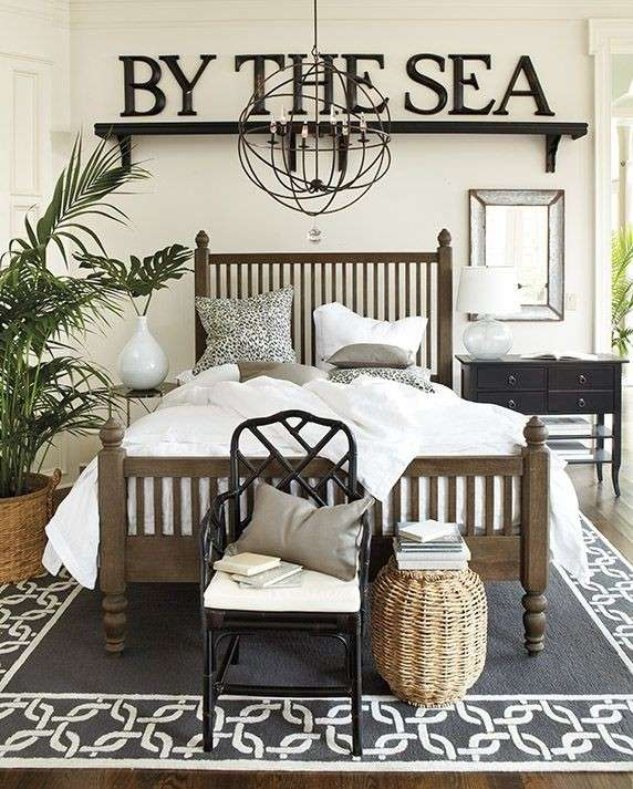 One Bedroom Apartment Layout Ideas Nautical Master Bedroom Decor Luxury Bedroom Lighting Bedroom Ideas Bachelor: Camera Da Letto Stile Marina (Foto)