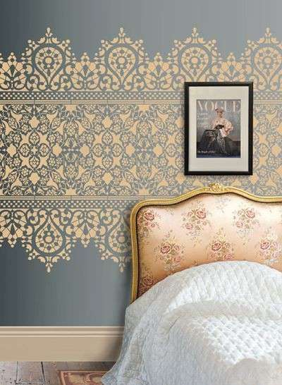Come decorare casa con gli stencil foto design mag - Stencil camera da letto ...