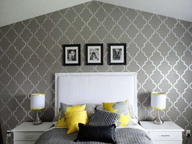 Pareti decorate con stencil