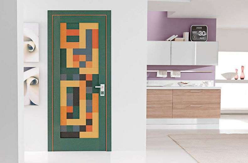 Porta multicolor Diby Security Doors