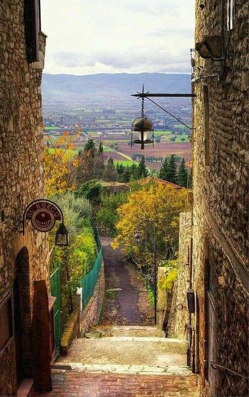 Assisi in autunno
