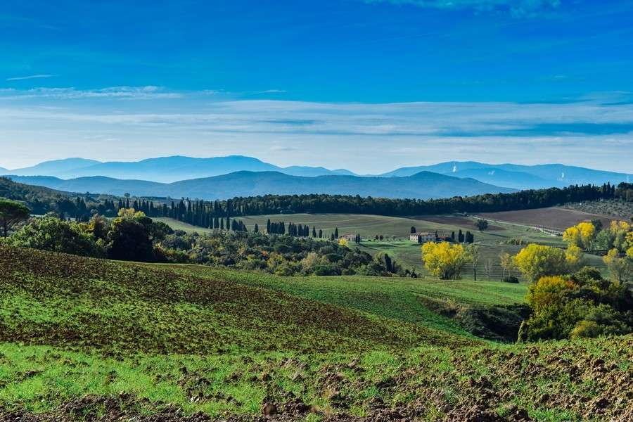 Campagna senese in autunno