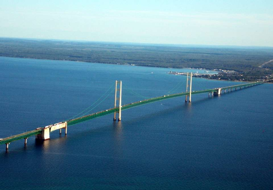 Mackinac Bridge a Gaylord nel Michigan