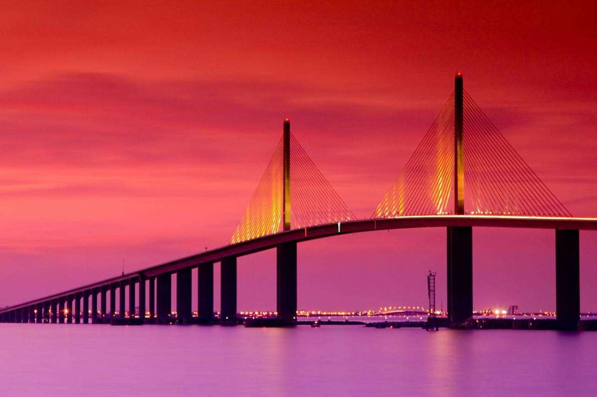 Sunshine Skyway Bridge a Tampa Bay in Florida