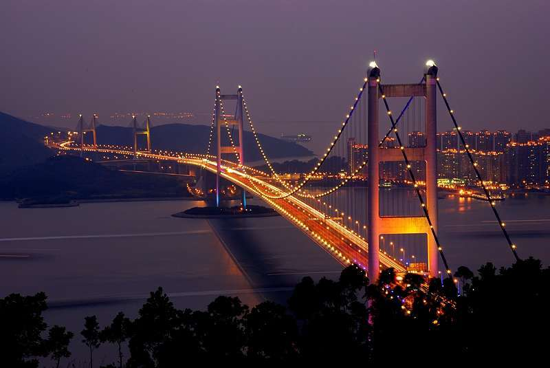 Tsing Ma Bridge a Hong Kong