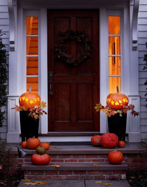 Portico decorato per Halloween