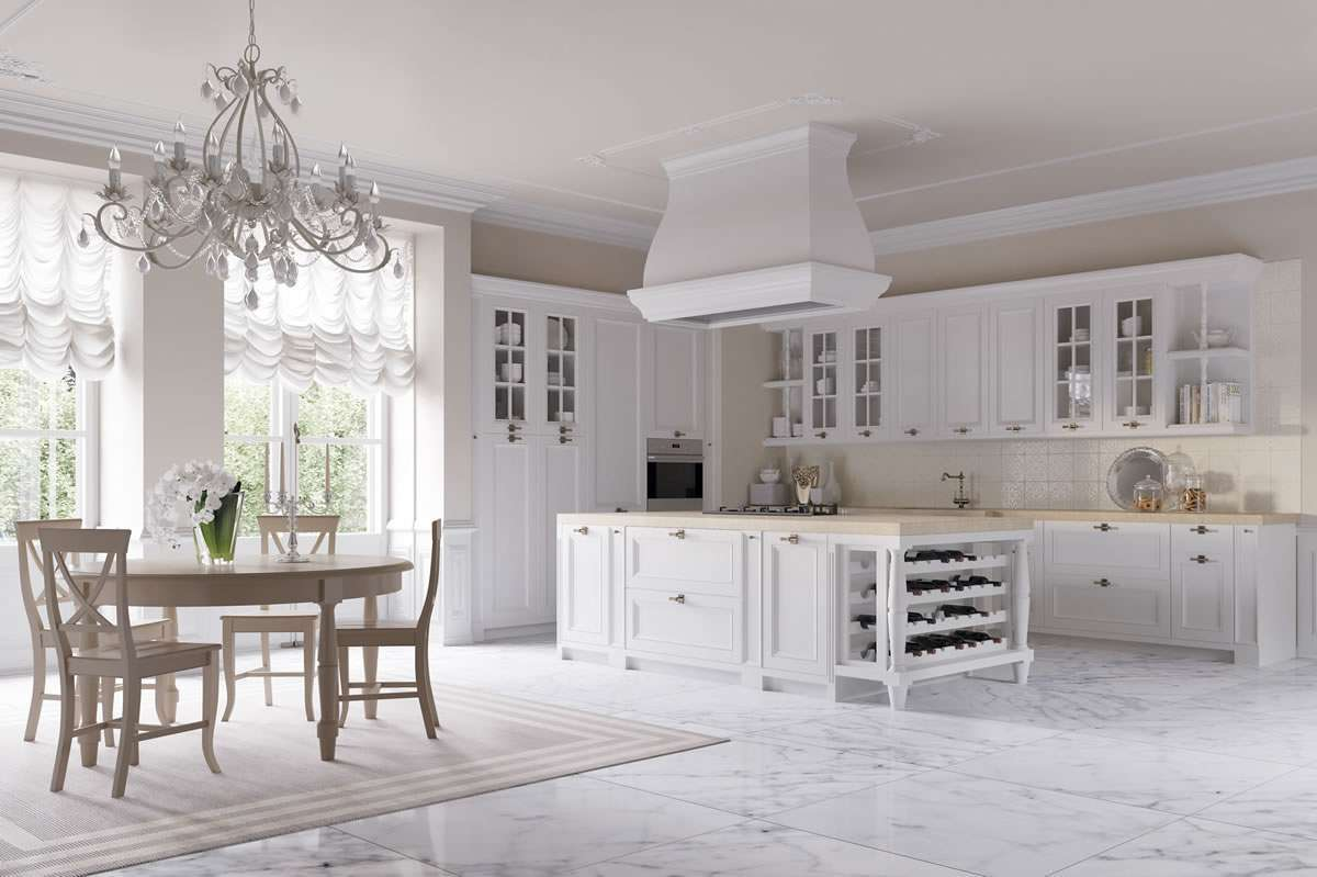 Cucina country chic elegante