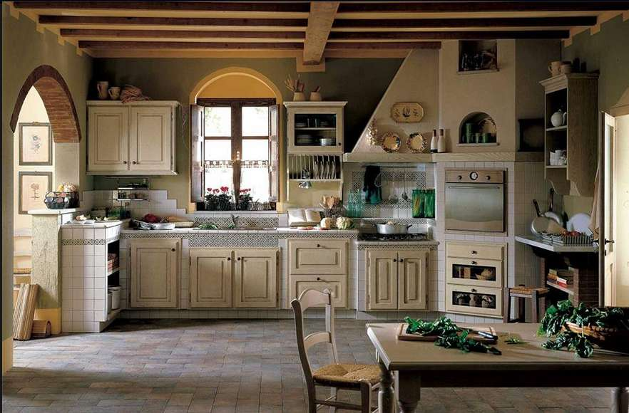 Cucine in stile country chic
