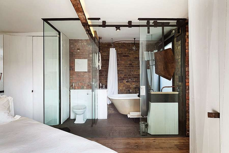 Bagno chic industriale
